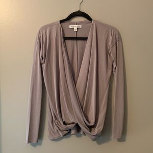 Abercrombie swoop front sweater